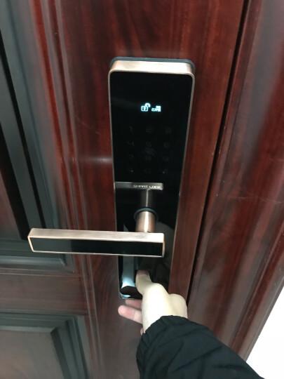 玛莎洛克德国 智能指纹锁防盗门锁 智能锁家用防盗门密码锁电子锁手机APP远程开启S6 红古铜(APP开锁+指纹+密码+卡片+钥匙) 晒单图