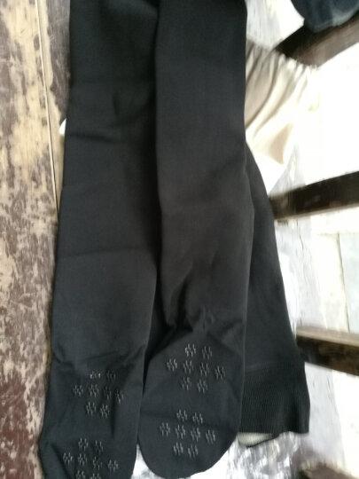 宝娜斯(BONAS)71012 320克脚底按摩防滑高弹打底裤袜加绒加厚保暖连脚外穿一体裤 黑色 晒单图
