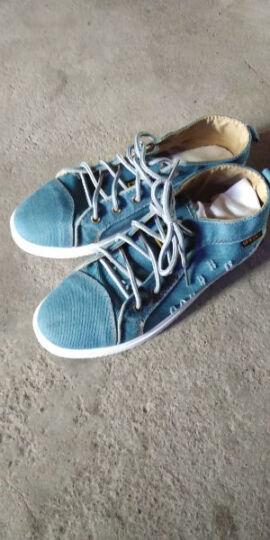 艾尚恋族新款平底布鞋配牛仔裤休闲鞋帆布男鞋板鞋运动男潮鞋子 黑色 42 晒单图