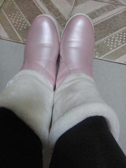 帛屐雪地靴女新款厚底短靴女流苏加厚保暖防寒棉靴棉鞋 红色 37 晒单图