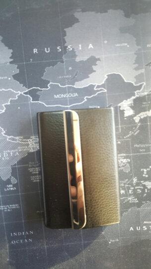 商务时尚烟盒经典黑皮防潮防压烟盒迷你小烟盒不锈钢超薄男士烟盒金属香菸创意个性磁 侧翻 晒单图