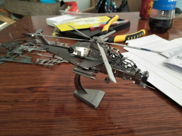3D立体金属模型玩具拼图歼20战斗轰炸飞机拼装航模军事模型 黑珍珠海盗船  送简易工具套装 晒单图