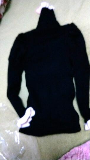 逗逗精灵 童装女童毛衣2018春秋薄款新款儿童针织衫高领套头中大童韩版时尚新款学生 黑色蝴蝶结(薄) 130码 晒单图