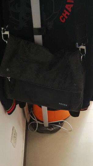红谷HONGU男士横款单肩斜挎包时尚休闲个性潮流男包 H5220465深灰 晒单图