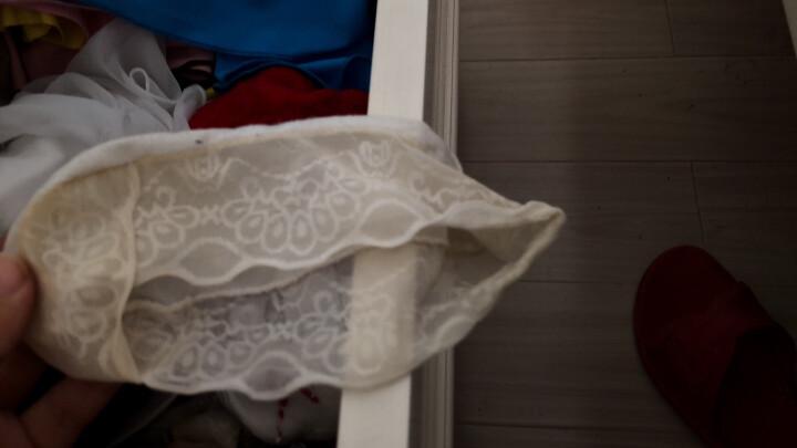 贝剀俐 袜子 蕾丝花边点胶防滑浅口吸汗防臭隐形船袜 双重硅胶防脱浅口 女士性感夏季无痕超薄 白色 晒单图