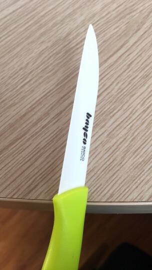 拜格BAYCO 水果刀3寸带刀套陶瓷削皮刀绿色BD8005 晒单图