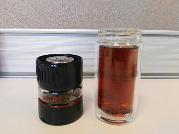 宜加美双层玻璃杯水杯男茶水分离杯带过滤茶杯 玻璃 茶水分离便携旅行杯车载喝水杯子办公泡茶杯商务礼品杯 B901咖啡色(360ML)送杯套杯刷茶巾 晒单图