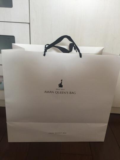 Aman女士手提包 欧美时尚百搭优雅女包 斜挎手提手拎包 6118 咖啡色小字母  大号 晒单图