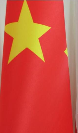 办公室落地国旗旗杆旗帜装饰摆件摆设2米会议室不锈钢旗座旗架室内党旗北京 2.72米旗杆 金色版 送3号国旗 晒单图