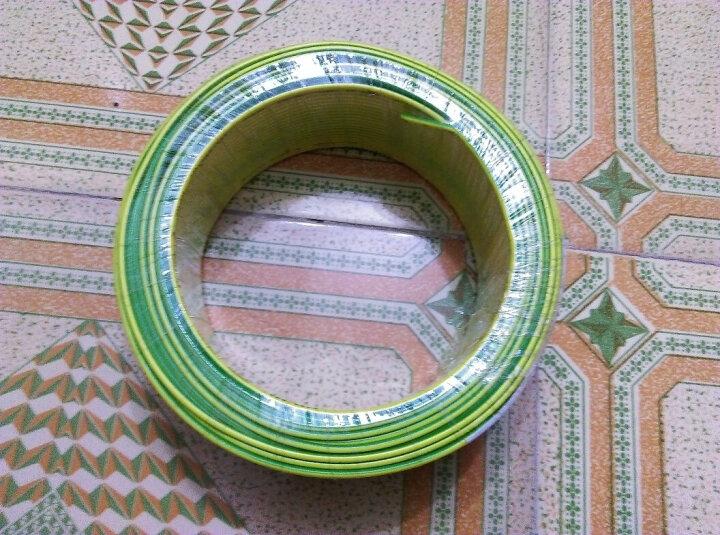 双菱电线电缆 BV2.5平方国标家装家用电线 单芯单股铜芯硬线100米足米 双色地线 晒单图