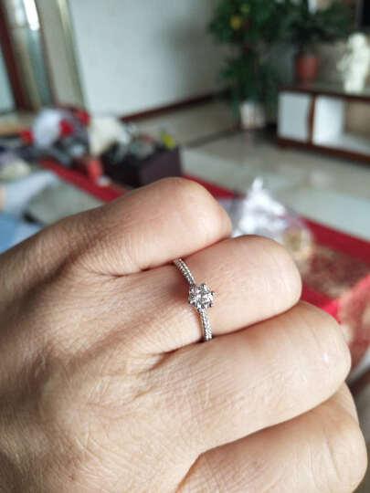 克徕帝(CRD) 钻戒 白18K金钻石戒指钻戒 女 女王之冠 结婚求婚戒指 共约30分 主石25分I-J   SI【全国联保】 晒单图