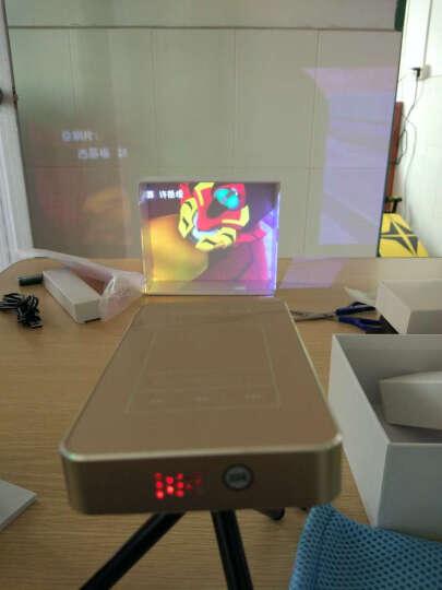 Robot GO X9 微型投影仪家用高清 手机无线wifi智能微投迷你便携式家用投影机 香槟金 旗舰版 8G 晒单图
