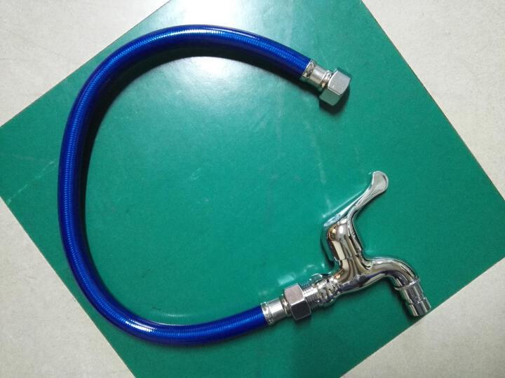 九牧(JOMOO) 卫浴配件不锈钢塑钢管双头软管耐高温抗拉伸弯曲塑钢管  H4139 80CM 晒单图