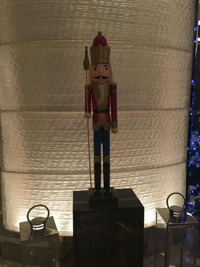 圣诞礼物 胡桃夹子 兵国王士兵木偶木头人偶 家居装饰 摆件 工艺礼品 英格兰情调30cm黑色敲鼓士兵 晒单图