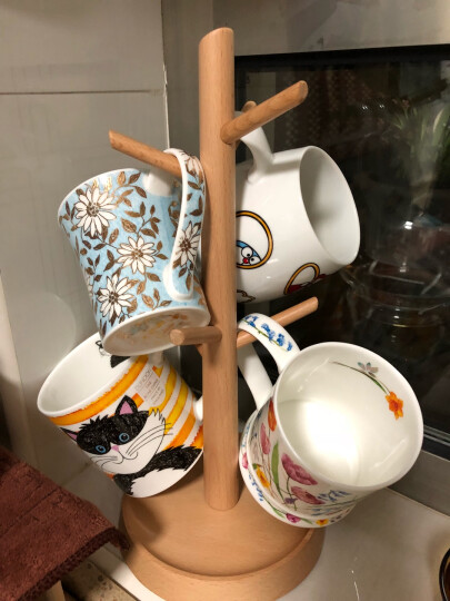 丹侬 英国DUNOON进口骨瓷马克杯 水杯茶杯22K黄金饰面咖啡杯210ml 礼品 浅蓝花 晒单图