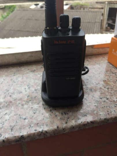 沪杭 大功率对讲机10公里民用调频手台商用酒店物业对讲户外机加长天线自驾游对讲手持机15天待机送耳机 黑色 GP1688降噪加密版 晒单图