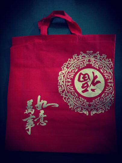 红色环保福字无纺布礼品袋 新贺年糖果茶叶白红名洋酒包装手提袋20个 40+12*45cm 20个 晒单图