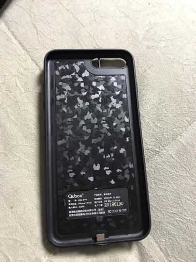 酷波 4200mAh大容量 苹果背夹电池充电宝【纤薄全包边】iPhone7 Plus专用手机壳移动电源无下巴5.5英寸黑色 晒单图