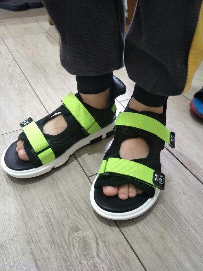 巴布豆童鞋2018年夏季新款男女童凉鞋儿童沙滩凉鞋 绿色 33 晒单图