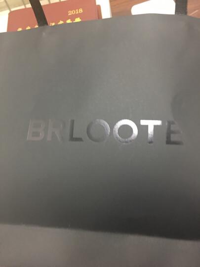 Brloote/巴鲁特男士纯棉短袖T恤 男夏季休闲小V领时尚修身简约体恤衫 黑色 180/100A 晒单图