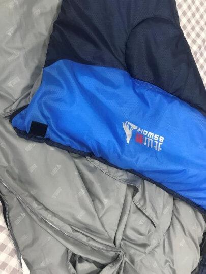 北山狼户外睡袋成人室内午休睡袋加厚露营帐篷睡袋旅行春夏秋冬季单人 宝石蓝2.3kg 晒单图