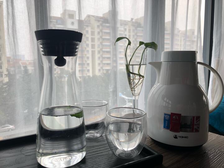 特美刻(TOMIC) 保温壶家用 暖壶水壶热水瓶暖瓶大容量玻璃内胆英伦时尚咖啡壶 白色1L 晒单图