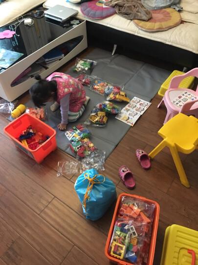 欢乐客 大颗粒儿童积木益智玩具兼容乐高积木男孩女孩子3-6周岁以上拼装塑料我的世界 200颗粒滑道+收纳凳+4P球罐 晒单图