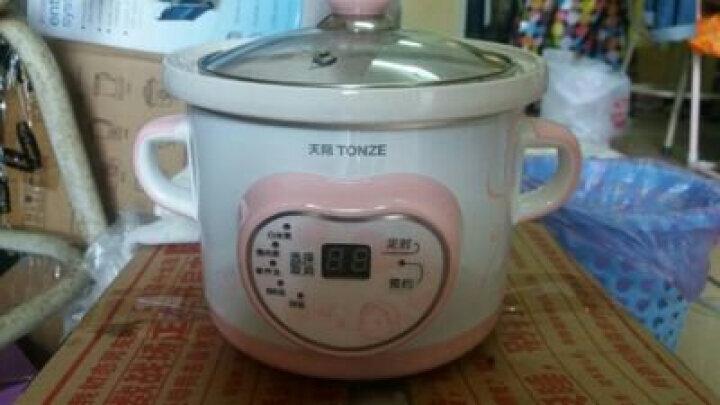 天际(TONZE)电炖锅白陶瓷迷你婴儿煲汤煮粥锅 bb煲DGD10-10BWD 晒单图