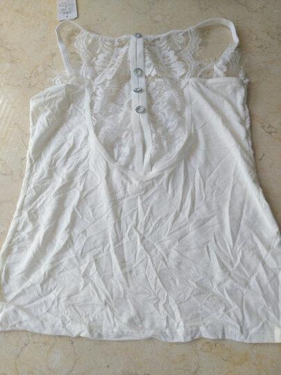 俞兆林蕾丝边小吊带背心女 修身后背纽扣性感纯色吊带衫可外穿 白色 均码 晒单图