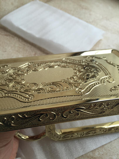 郎霸 欧式纸巾架仿古防水擦手纸盒卷纸架金色卷纸器厕所手机架卫生间卫生纸盒 雕花富贵银 晒单图