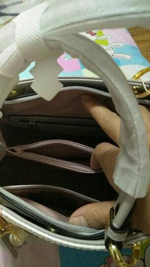 DOODOO包包2018年新款女包 时尚大容量百搭手提包韩版真皮单肩包休闲女士斜挎包 灰色大号 7126 晒单图