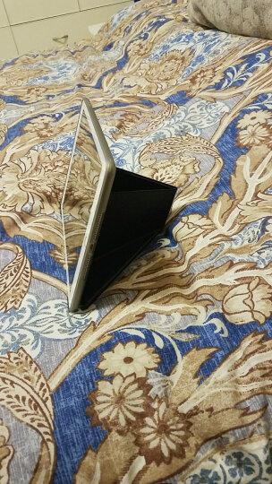 ESCASE ipad2018保护套9.7英寸2017苹果第5/6代通用平板电脑全包防摔硅胶壳儿童网课支架 优雅黑 晒单图