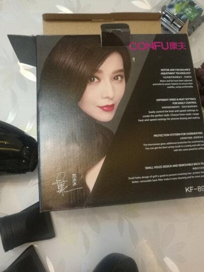 康夫(Kangfu)电吹风机家用 KF-8905 美发套装2300W大功率吹风筒(含直发器和造型风罩) 晒单图