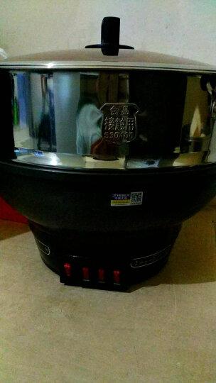半球(Peskoe)电蒸锅多功能电热锅 32CM电炒锅电锅 加厚铸铁锅身304钢蒸笼电煮锅JF-32 5L 晒单图