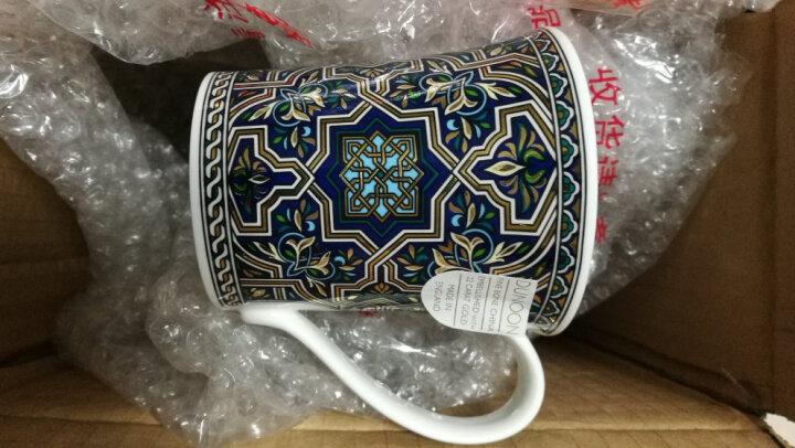 丹侬 英国DUNOON进口骨瓷马克杯 水杯茶杯22K黄金饰面咖啡杯210ml 礼品 蓝色花 晒单图