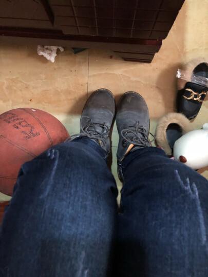 林羽森 2018秋冬季新款真皮粗跟短靴女时尚英伦风系带马丁靴学生靴子 欧洲站裸靴 灰色单里 38 晒单图
