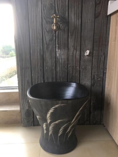 艺魂40cm口径一体式仿古陶瓷艺术拖把池拖布池方形芦苇林TB1507 TB1507 晒单图