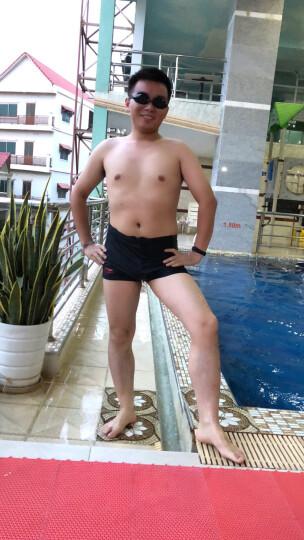 李宁(LI-NING) 泳裤 男士专业平角游泳裤 男速干舒适沙滩泳衣 数码印花081黑 XXXL(185/95) 晒单图