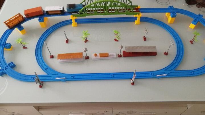 fenfa 奋发 轨道车玩具电动双车头轨道车和谐号小火车多层益智类儿童玩具礼盒装 60件套[1列火车+3节车厢] 晒单图