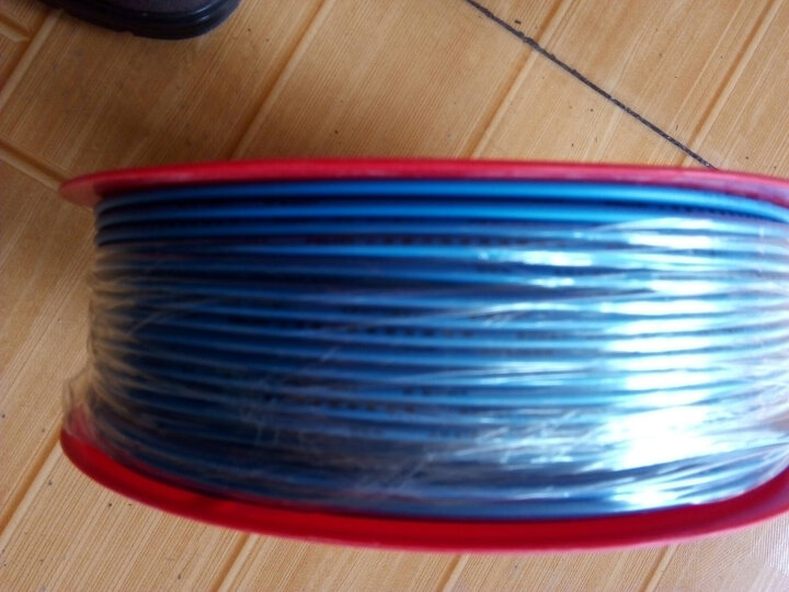 正泰(CHNT) 电线电缆 1.5平方 红色 100米单股铜照明电源线 晒单图