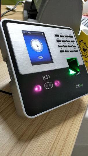 中控智慧(ZKTeco)B51人脸指纹考勤机 面部识别指纹打卡门禁一体机 刷脸打卡机器 UF200黑色(送考勤优盘) 标配 晒单图
