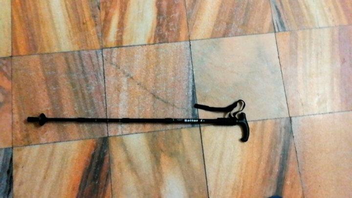 顿巴纵队4节登山杖手杖户外多功能滑雪装备伸缩减震徒步健走杖拐杖10cm颜色随机发货 晒单图