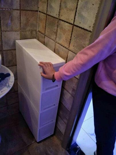 圣虹 夹缝抽屉式收纳柜置物架塑料缝隙储物整理箱窄柜冰箱零食边柜 18CM两层 不透明抽屉 晒单图