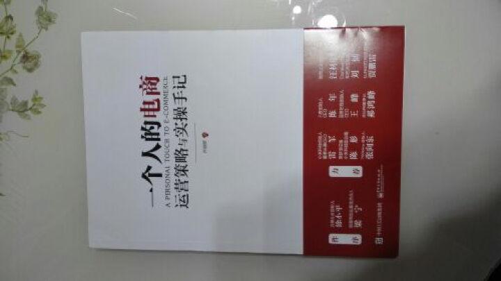 一个人的电商:运营策略与实操手记 2015电子商务书籍淘宝网天猫开网店 淘宝运营书籍 晒单图