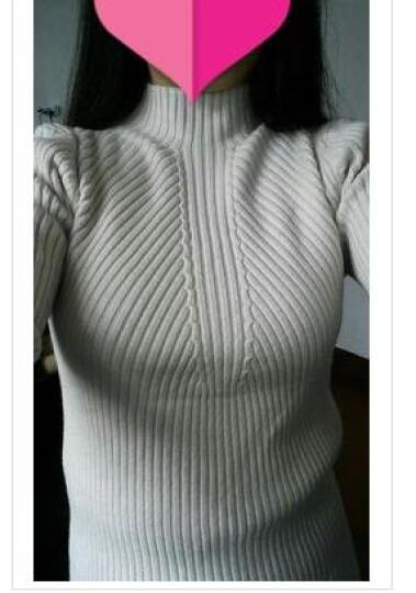 11.11狂欢优惠价--半高领毛衣女秋冬短款瘦身长袖套头针织衫上衣加厚打底衫冬---888 黑色. M 晒单图