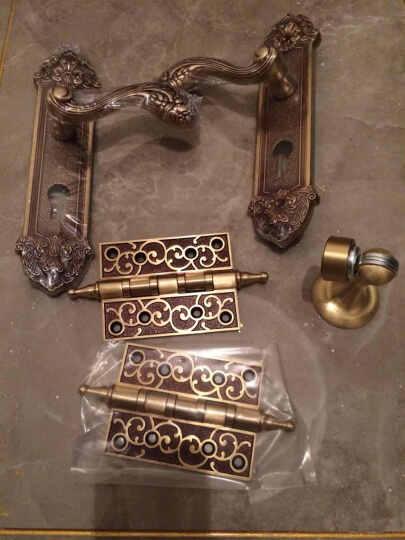 老铜匠 仿古铜质合页欧式静音花板轴承铜合页 4寸加厚 MH400801 咖啡古铜色 晒单图