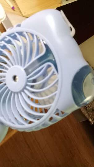 招财猫喷雾风扇加湿器 usb迷你空调风扇小空调学生便携式静音小型电风扇充电小风扇喷水宿舍桌面制冷机 白色 晒单图