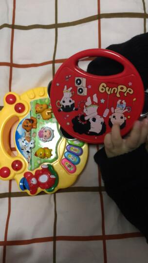 韩国冬己儿童幼儿园手拍铃玩具0-6-12个月婴儿手拍鼓手摇铃手拍鼓拍拍鼓乐器教具3-6岁 婴幼儿小孩手拍铃玩具礼盒(冬己铃鼓)女孩公主红色 晒单图