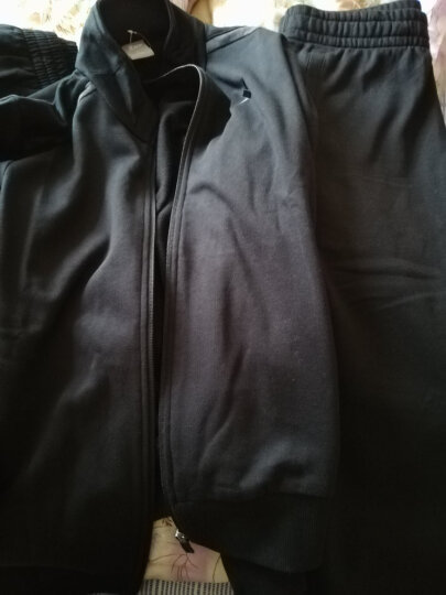 特步(XTEP)特步运动套装男款2018春夏季休闲开衫男上衣外套+运动裤跑步长裤 黑 +黑 L 晒单图