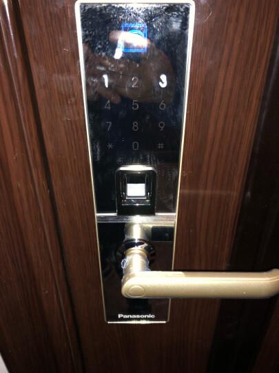 松下(Panasonic)智能锁指纹锁家用V-M683W APP远程遥控门锁 防盗门密码锁 大门锁 香槟金(右开)全国上门安装 晒单图